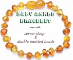 Healing Hazel Baby Ankle Bracelet now with screw clasp & double knotted beads